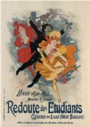 vintage French poster - Redoute des Etudiants